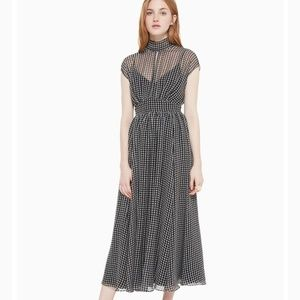 NWT kate spade houndstooth chiffon dress